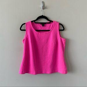 St.John Wool Blend Hot Pink Sleeveless Tank Top